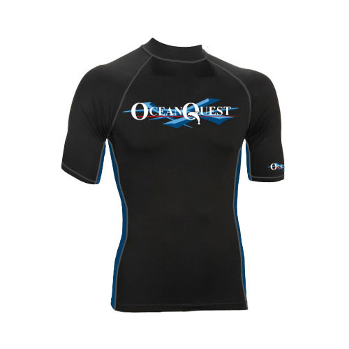 Ocean Quest 6oz Premium Lycra Short Sleeve Rash Guard H0NW-01-DDS e110928