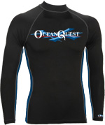 Ocean Quest 6oz Premium Lycra Long Sleeve Rash Guard H0NX-01-DDS-XS e110935