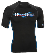Ocean Quest 6oz Premium Lycra Short Sleeve Rash Guard H0NW-01-DDS-XS e110928