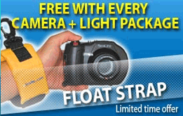 Free Floatstrap with every Underwater Camera Package